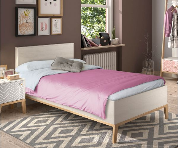 Gami Alika Whitewashed Chestnut Bed Frame
