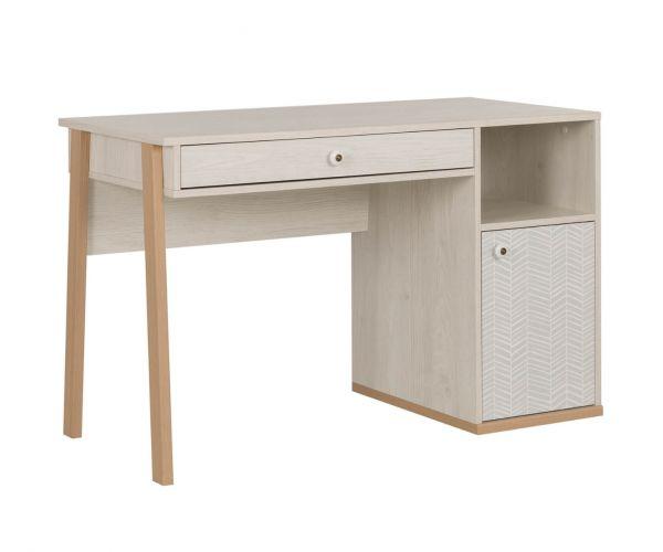 Gami Alika Whitewashed Chestnut 1 Door 1 Drawer Desk