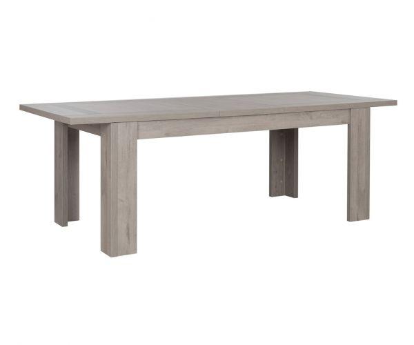 Gami Boston Light Grey Oak Rectangular Extension Dining Table