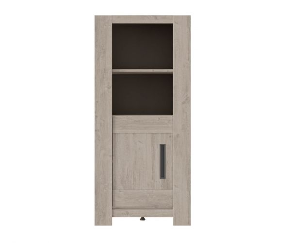 Gami Boston Light Grey Oak 1 Door Display Unit