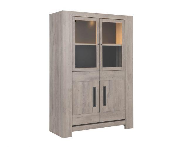 Gami Boston Light Grey Oak 4 Door Display Unit