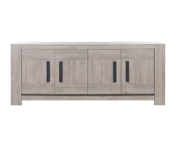 Gami Boston Light Grey Oak 4 Door Sideboard