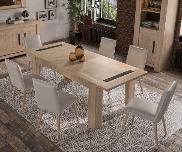 Gami Boston Blond Oak Rectangular Extension Dining Table