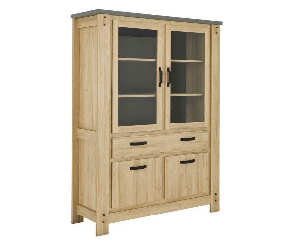 Gami Broceliande Light Oak Glass Display Cabinet