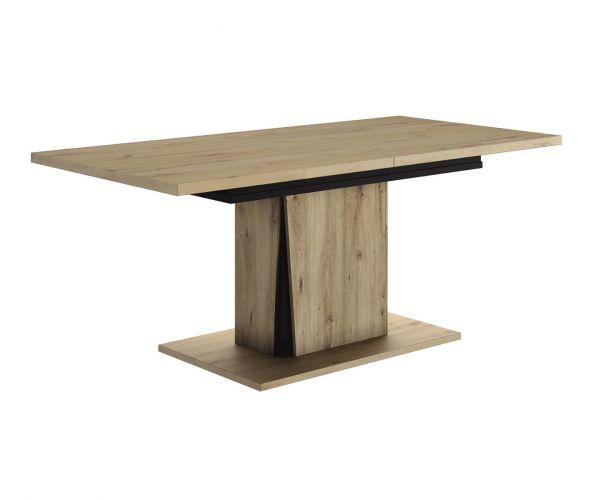 Gami Crack Light Oak Rectangular Extension Dining Table