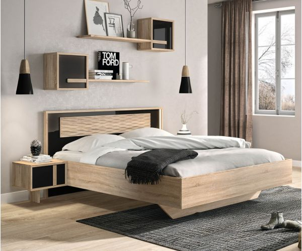 Gami Curtys Sonoma Black Bed Frame