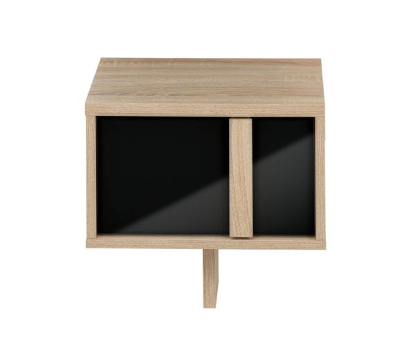 Gami Curtys Sonoma Black 1 Drawer Bedside Cabinet