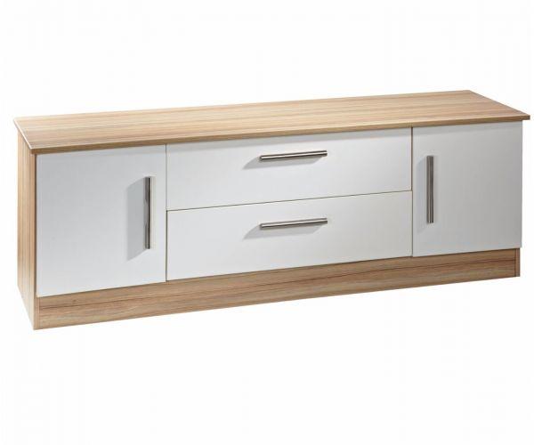 Welcome Furniture Living Wooden Wide 2 Door 2 Drawer TV Unit