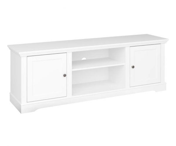 Steens Venice White Large Media Table