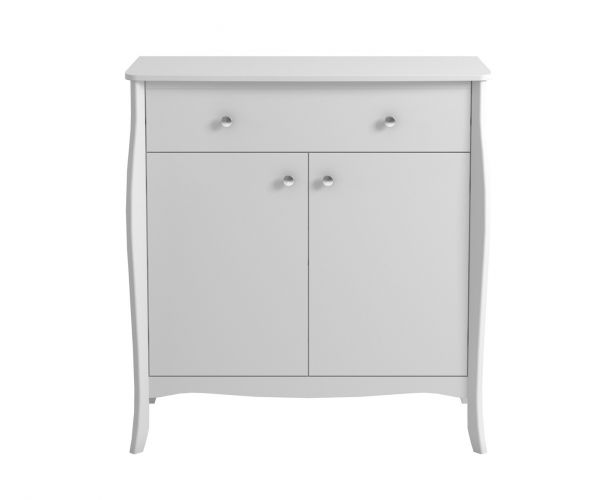 Steens Baroque White 2 Door 1 Drawer Sideboard