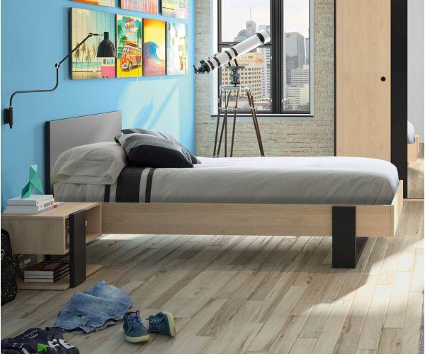 Gami Duplex Natural Chestnut Bed Frame