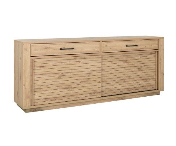 Gami Estran Light Oak 2 Door 2 Drawer Sideboard