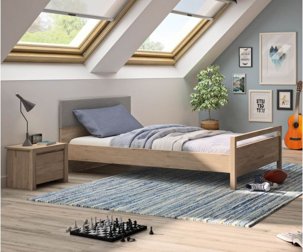 Gami Ethan Light Oak Bed Frame