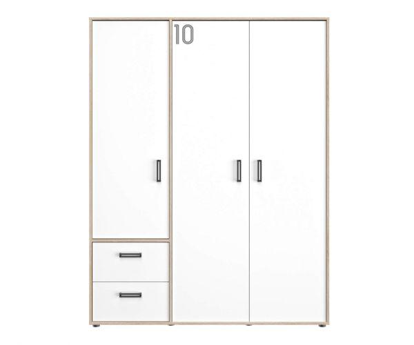 Gami Kyllian Sonoma Oak 3 Door 2 Drawer Wardrobe