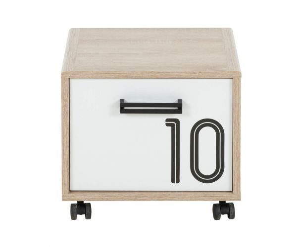 Gami Kyllian Sonoma Oak 1 Door Bedside Cabinet