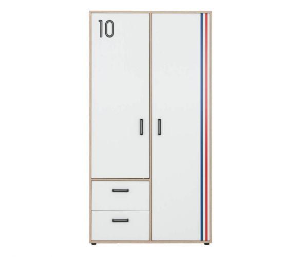 Gami Kyllian Sonoma Oak 2 Door 2 Drawer Wardrobe