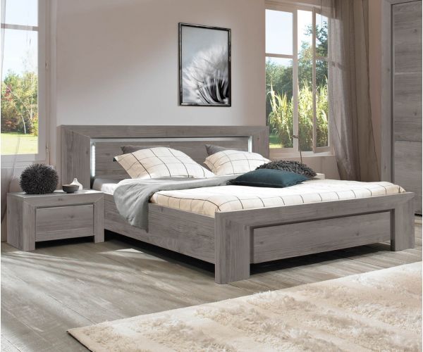 Gami Sarlat Grey Chestnut Bed Frame