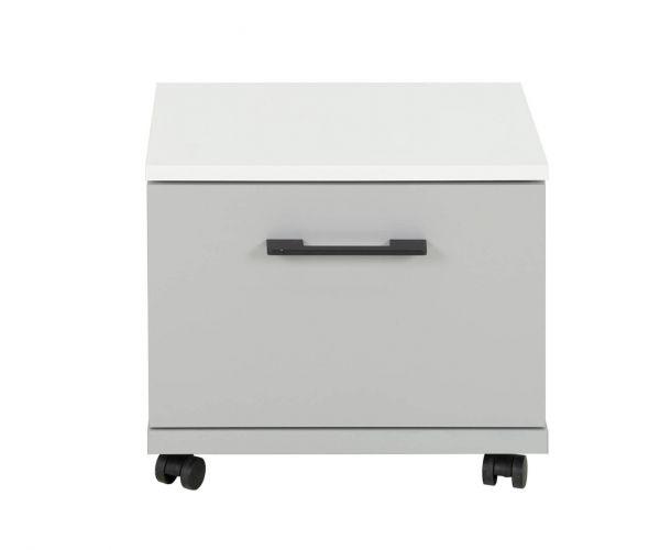 Gami Ugo Moon Grey 1 Drawer Bedside Cabinet
