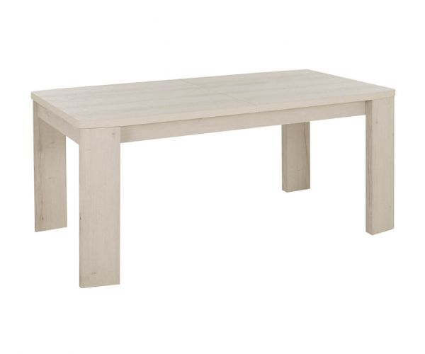Gami Vermont Whitewashed Helvzia Oak Rectangular Extension Dining Table