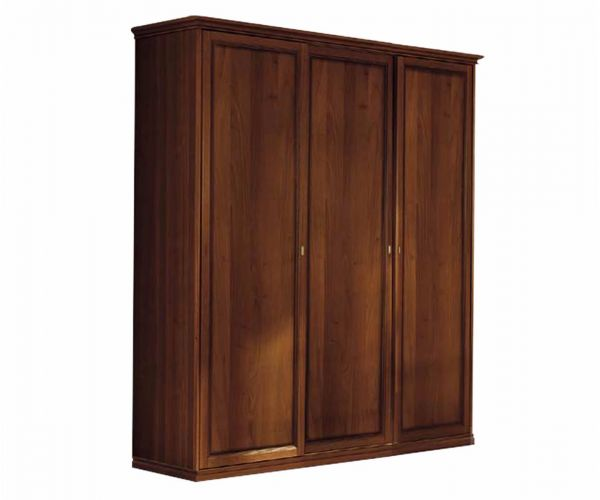 Camel Group Nostalgia Walnut Finish 3 Door Wardrobe