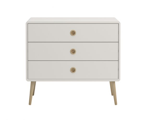 Steens Soft Line White 3 Wide Drawer Chest