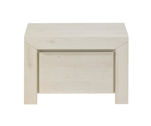 Gami Sarlat Whitewashed Cherry 1 Drawer Bedside Table