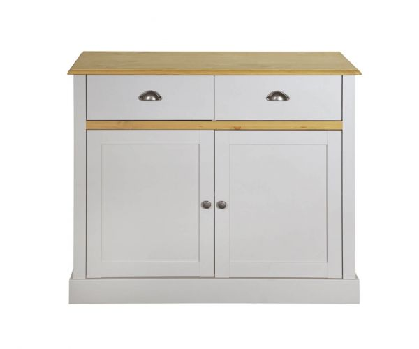 Steens Sandringham White and Pine 2 Door 2 Drawer Sideboard