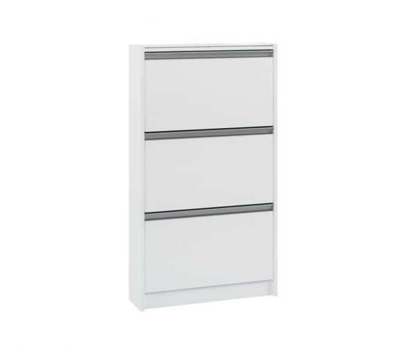 Steens Skyline White 3 Drawer Shoe Cabinet