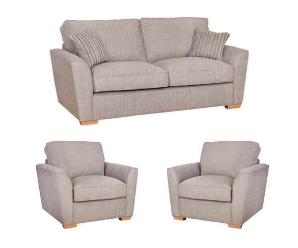 Buoyant Upholstery Fantasia Fabric 3+1+1 Sofa Set