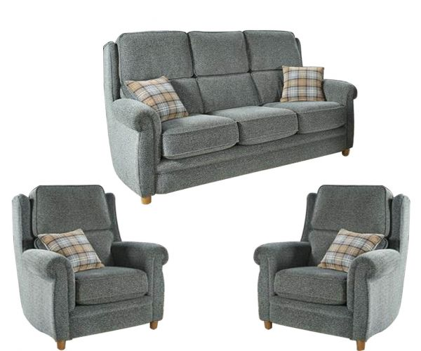 Lebus Alina High Back Fabric 3+1+1 Sofa Set