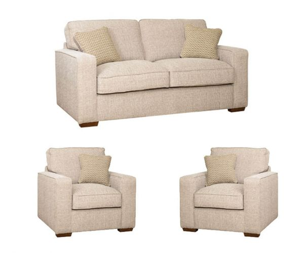 Buoyant Upholstery Chicago Fabric 3+1+1 Sofa Set