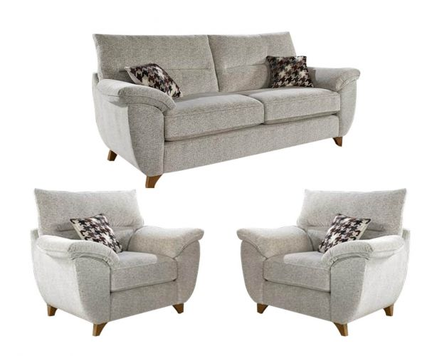 Lebus Carrie Fabric 3+1+1 Sofa Set