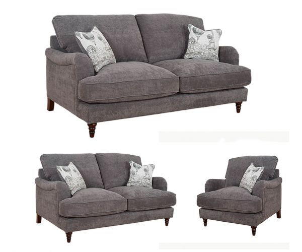 Buoyant Upholstery Charleston Fabric 3+2+1 Sofa Set