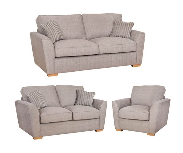 Buoyant Upholstery Fantasia Fabric 3+2+1 Sofa Set