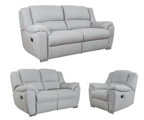 Buoyant Upholstery Blake Fabric 3+2+1 Recliner Sofa Set