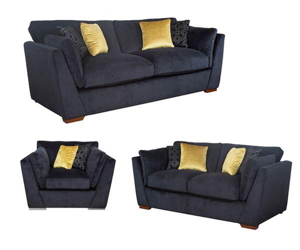 Buoyant Upholstery Phoenix Fabric 3+2+1 Sofa Set