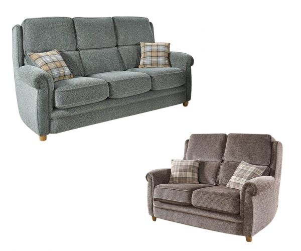 Lebus Alina High Back Fabric 3+2 Sofa Set