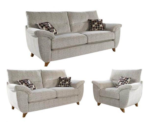 Lebus Billie High Back Fabric 3+2+1 Sofa Set