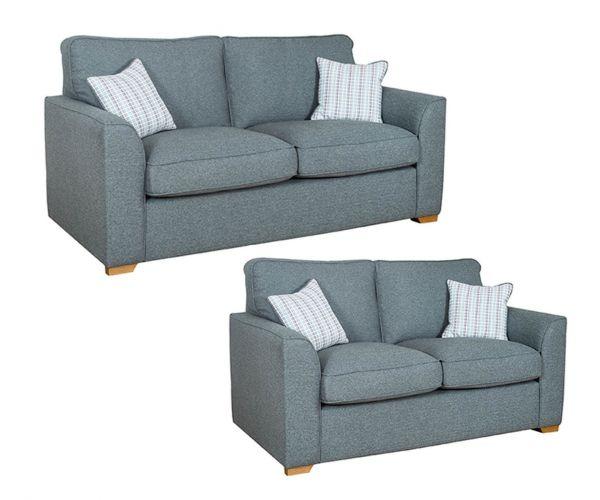 Buoyant Upholstery Louis Fabric 3+2 Sofa Set