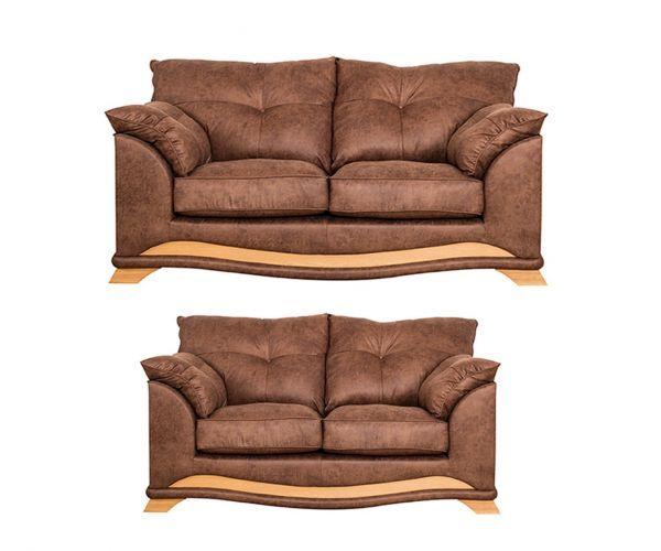 Buoyant Upholstery Nicole Fabric 3+2 Sofa Set