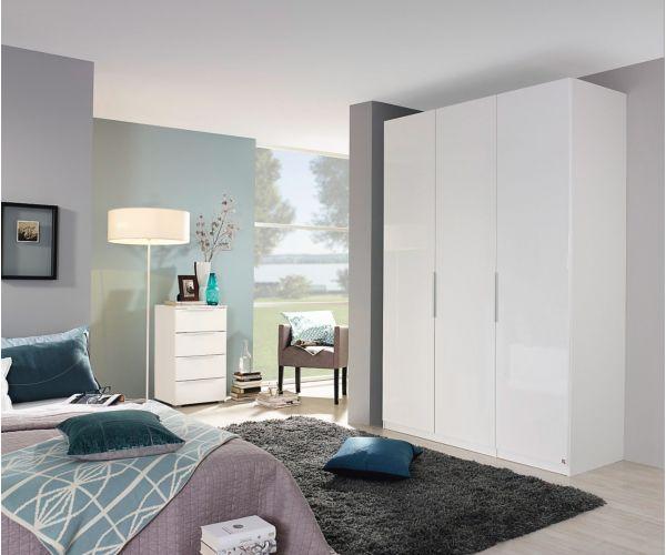 Rauch Zenaya Alpine White and White High Gloss Front 3 Door Wardrobe