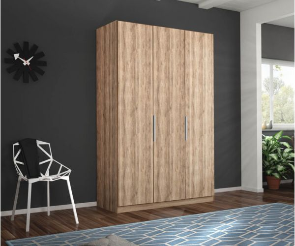 Rauch Zenaya Silk Grey 3 Door Wardrobe