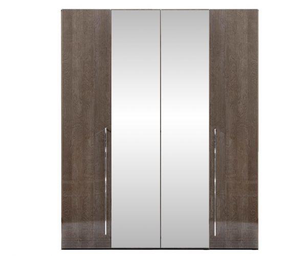 Camel Group Elite Silver Birch 4 Door Mirror Wardrobe