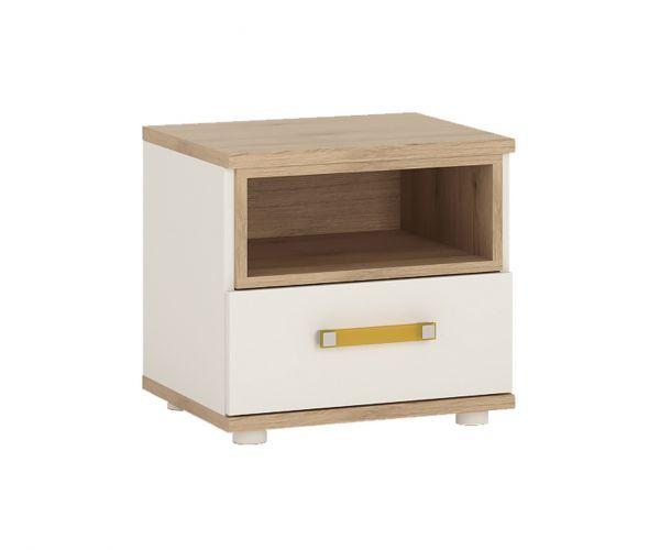 FTG 4Kids 1 Drawer Bedside Cabinet with Orange Handles