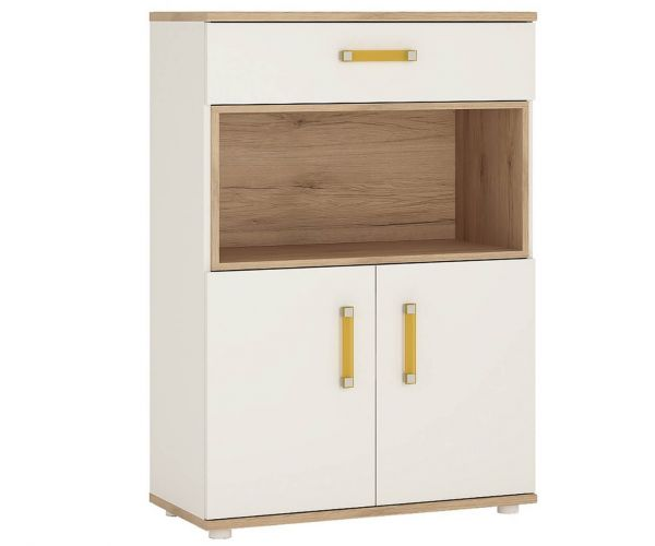 FTG 4 Kids 2 Door 1 Drawer Cupboard with Open Shelf Unit