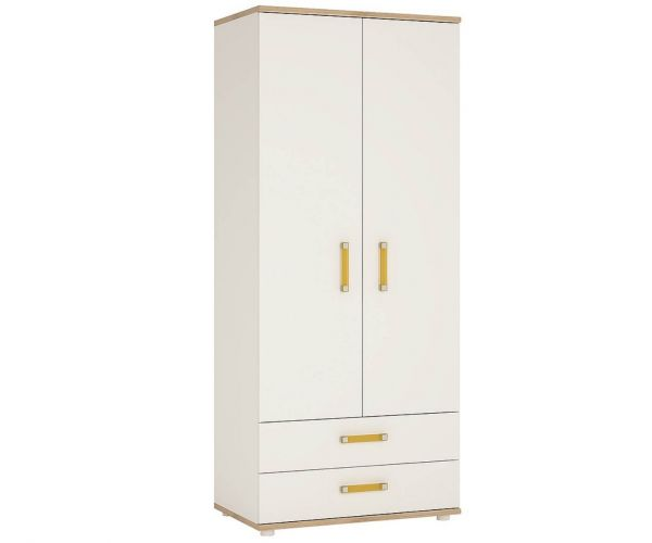FTG 4 Kids 2 Door 2 Drawer Wardrobe