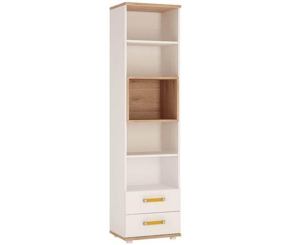 FTG 4 Kids Tall 2 Drawer Bookcase