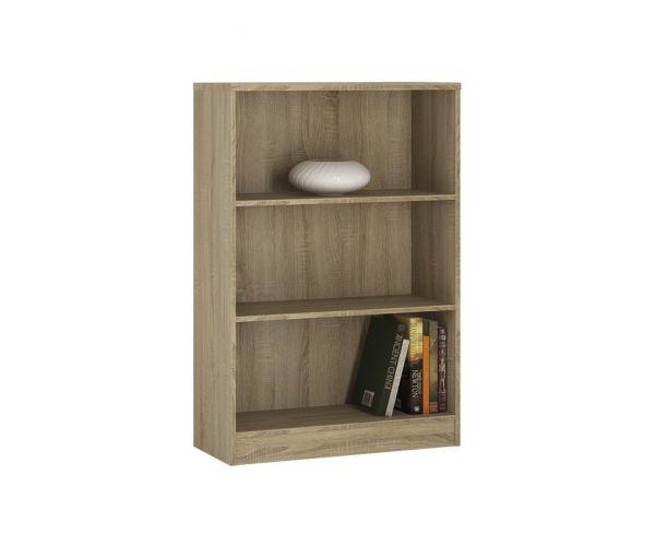 FTG 4 You Sonama Oak Medium Wide Bookcase
