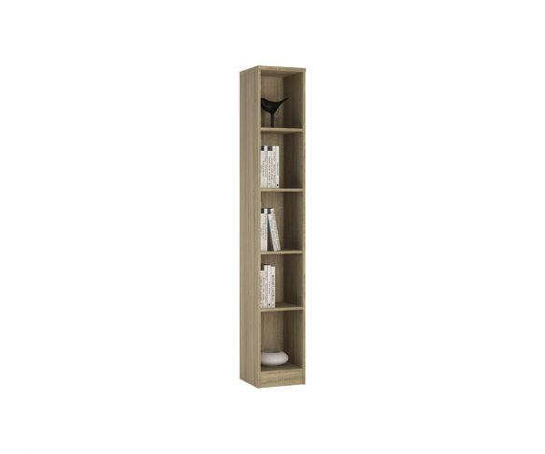 FTG 4 You Sonama Oak Tall Narrow Bookcase
