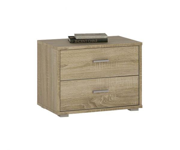 FTG 4 You Sonama Oak 2 Drawer Bedside